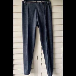 Zara Plaid Trousers in Gray